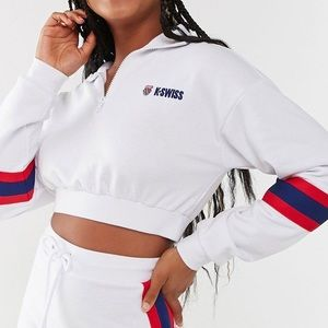 Forever 21 K-Swiss cropped sweatshirt